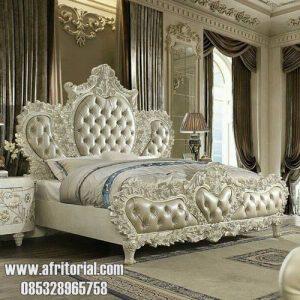 Set Tempat Tidur Utama Mewah Ukiran Klasik Eropa