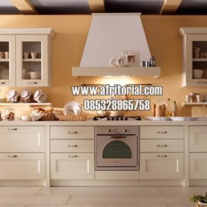 Kitchen Set Model Minimalis Kayu Alami Finishing Cat Duco