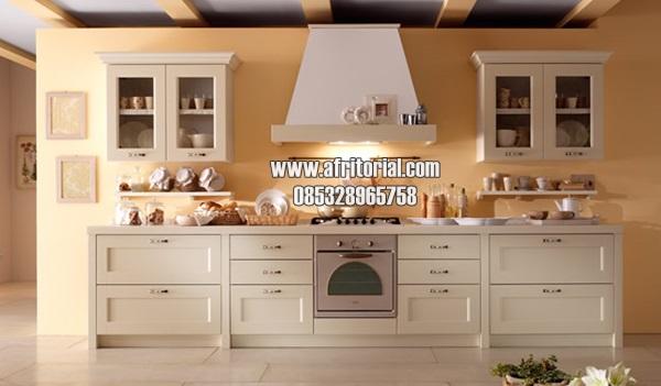 Kitchen Set Model Minimalis Kayu Alami Finishing Cat Duco