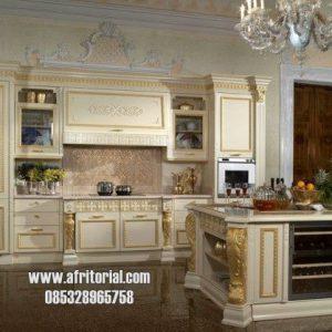 Kitchen Set Rumah Mewah Rapi Dan Bersih Ukiran Kayu Jati Jepara