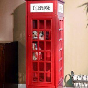 Lemari Buku Minimalis Model Kotak Telephone