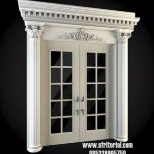 Paket Pintu Rumah Mewah Dilengkapi Kusen Dan Architraf Kayu
