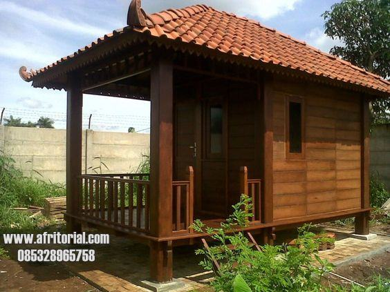 Rumah Kayu Mungil Sederhana Unik Satu Kamar Untuk Villa Homestay Kamar Hotel Asri