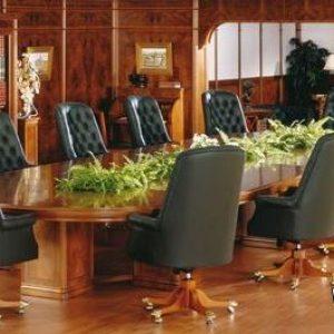 Meja Rapat Kantor Minimalis Kayu Jati 12 Kursi