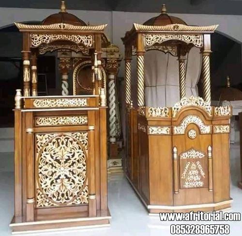 Mimbar Masjid Jati Model Terbaru
