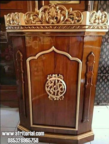 Mimbar Murah Kayu Jati Untuk Mushola Atau Masjid