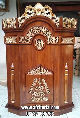 Mimbar Podium Masjid Kayu Jati Harga Murah