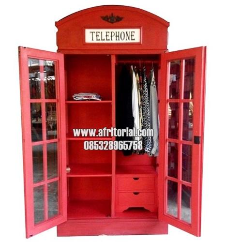 Lemari Model Telepon Inggris Minimalis Modern Murah