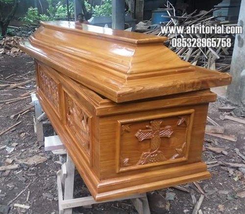 Peti Mati Kayu Jati Ukir Jepara Murah Bisa Untuk Jenazah Pasien Covid19
