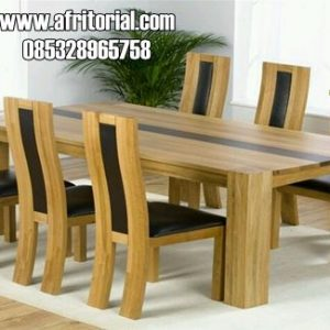 Set Kursi Makan Minimalis Kayu Jati Solid Jepara