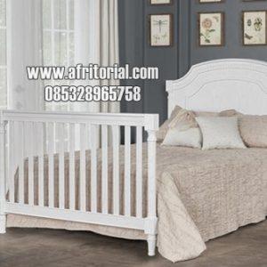 Tempat Tidur Minimalis Anak Terbaru Cat Duco Putih
