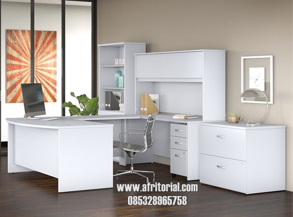 set meja kantor minimalis terlengkap harga murah tanpa kursi