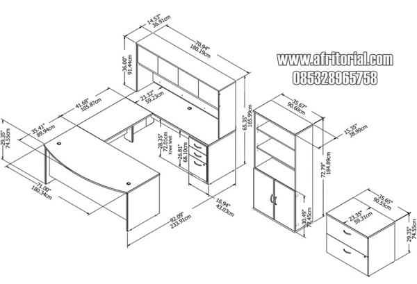 ukuran set meja kantor minimalis terlengkap harga murah tanpa kursi