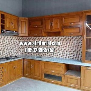 Kitchen Set Jati Jepara Model Minimalis Modern