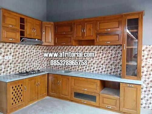 Kitchen Set Jati Jepara Model Minimalis Modern