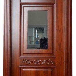 Kusen Pintu Klasik Kaca Ditengah Full Arcitrap Kayu Jepara
