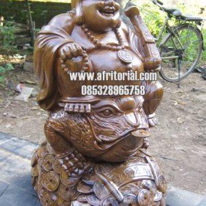 Patung Budha Julaihut Kayu Jati Jepara Ukir