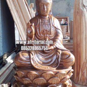 Patung Dewi Kwan Im Jati Ukir Kayu Jepara Bagus