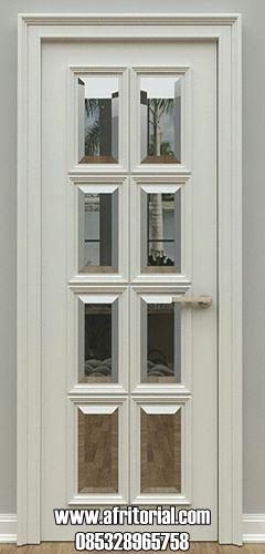 Pintu Kamar Motif Kaca Cermin Model Minimalis Modern