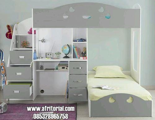 Tempat Tidur Anak Set Meja Belajar Untuk Usia Smp