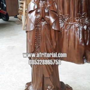 Patung Bunda Maria Kayu Jati Jepara