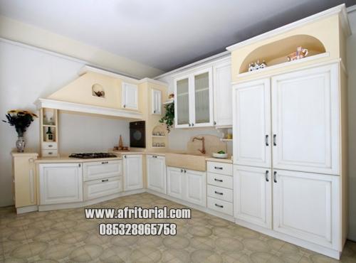 Kitchen Set Dapur Kecil Minimalis Kayu Jepara