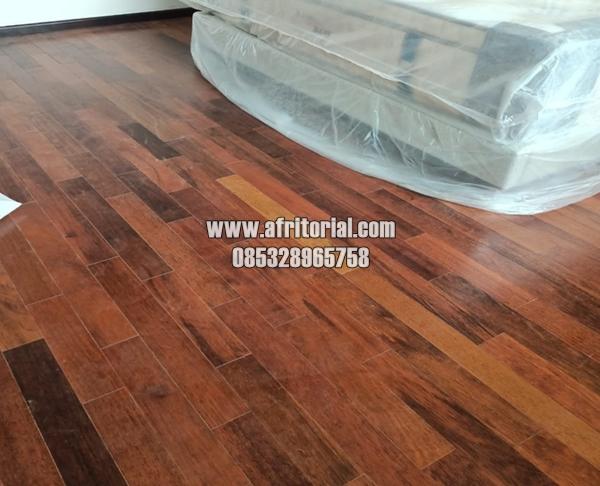 Flooring Parquet Lantai Kayu Jati Asli Wood Floor Solid Untuk Indoor