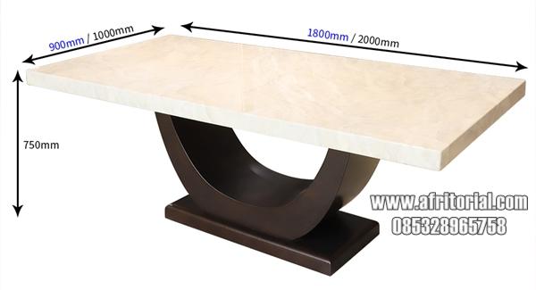 Meja Makan Marmer Minimalis Persegi Panjang Putih Minimalis Mewah