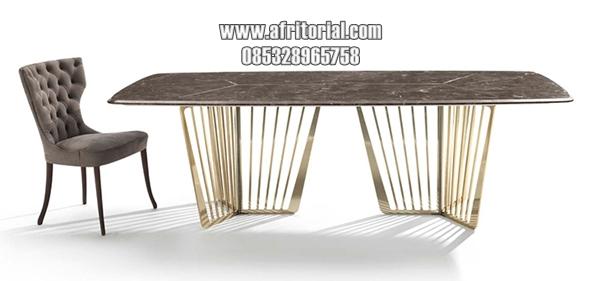 Meja Marmer Perabot Ruang Makan Mewah Modern Model Italia