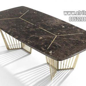 Meja Marmer Untuk Perabot Ruang Makan Mewah Modern Model Italia
