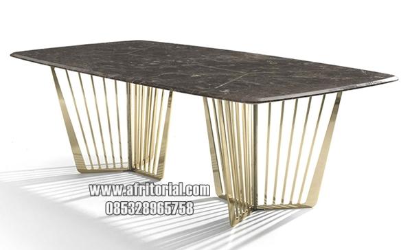 Meja Marmer Untuk Perabot Ruang Makan Mewah Terbaru Model Italia