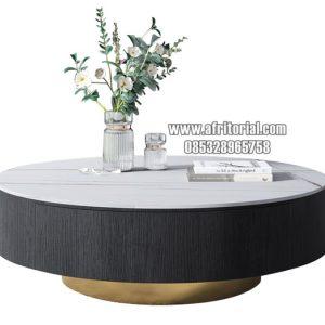 Meja Ruang Tamu Marmer Dengan Laci Penyimpanan Besar Display