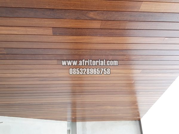 Plafon Kayu Jati Minimalis Modern Berkualitas Cocok Untuk Langit-langit Villa