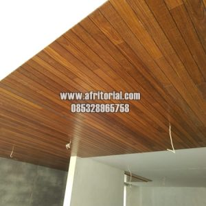 Plafon Kayu Minimalis Modern Berkualitas Cocok Untuk Langit-langit Villa