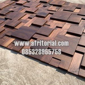 Dekorasi Panel Dinding Jati 3d Motif Bata Bahan