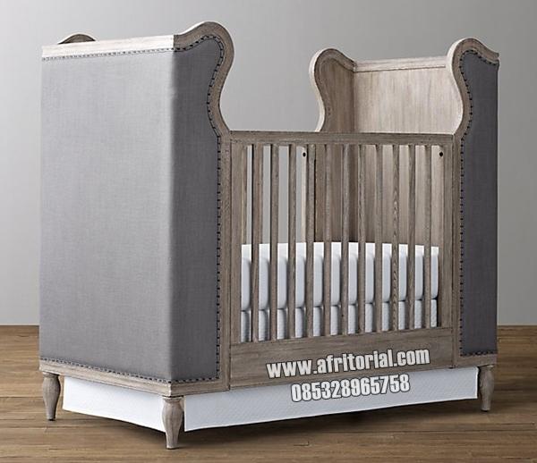 Tempat Tidur Bayi Crib 0 Sampai 3 Tahun Kayu Solid Jepara