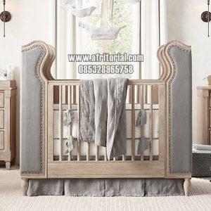 Tempat Tidur Bayi Crib 0 Sampai 3 Thn Kayu Solid Jepara